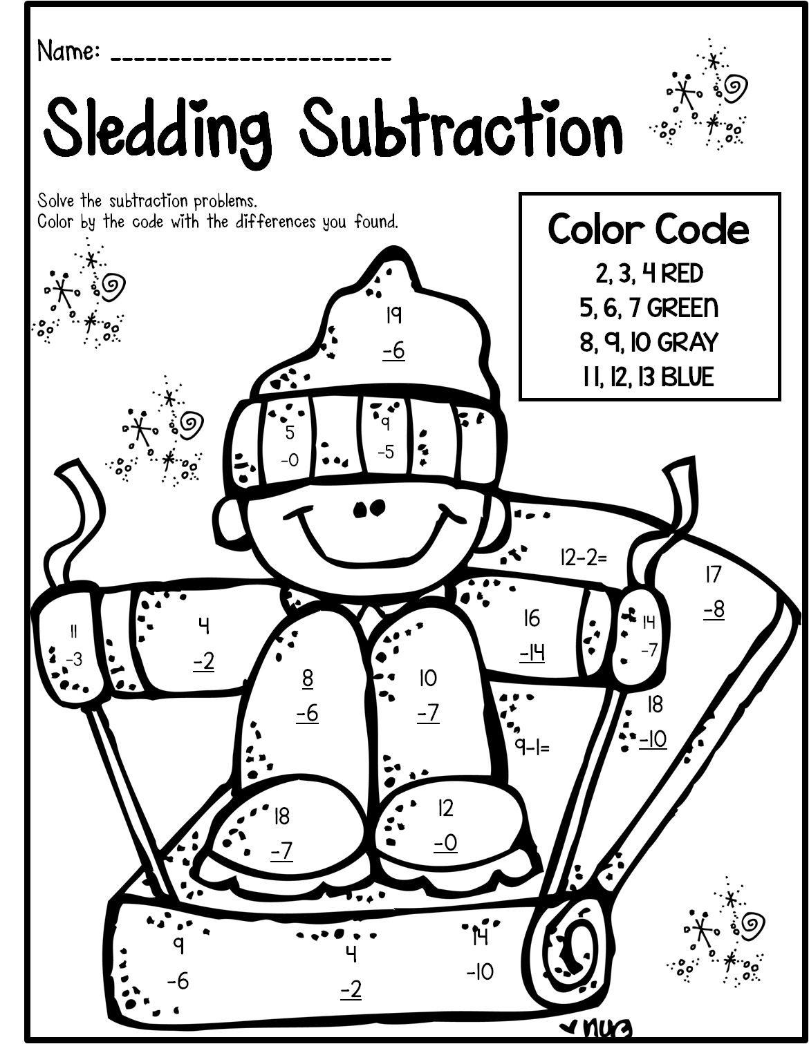 Christmas Coloring Pages 2nd Grade With Subtraction Worksheets Second 690880 Myscres