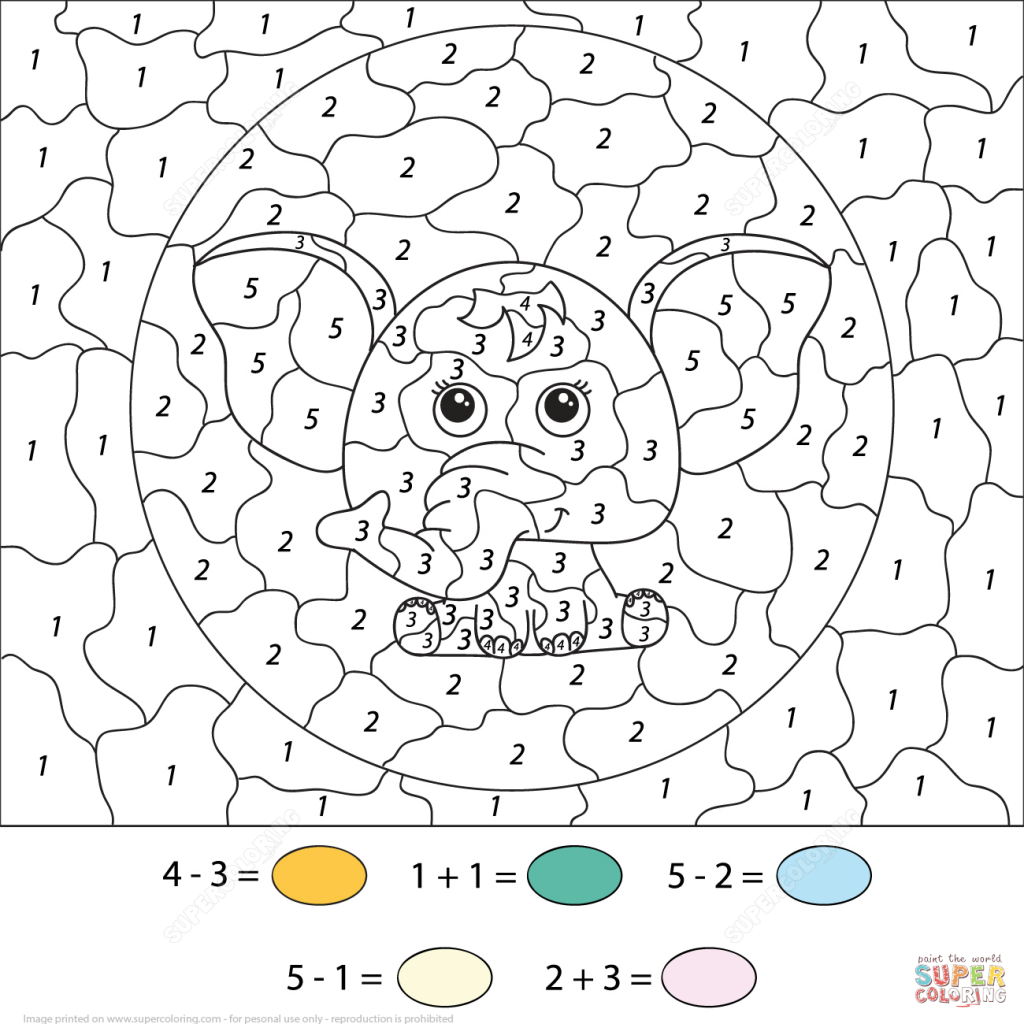Christmas Coloring Pages 4th Grade With Color By Number Math Worksheets Free
