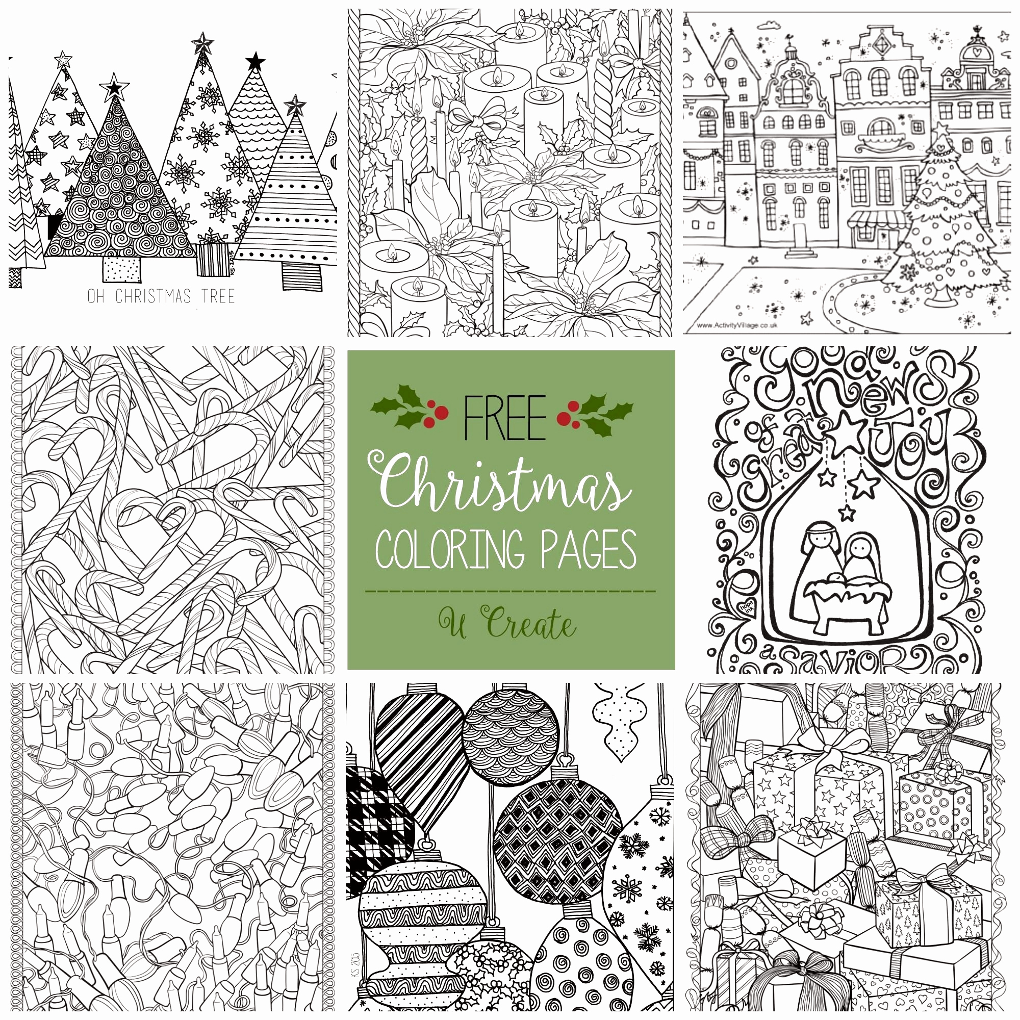 Christmas Coloring Pages Activity Village With 25 Best Of