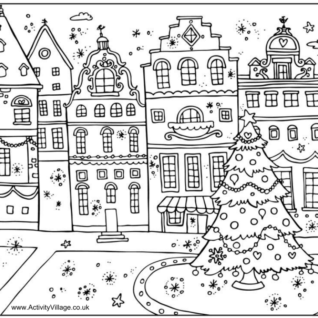 Christmas Coloring Pages Activity Village With Printable CHRISTMAS COLORING BOOK PAGES Wishes Gifts