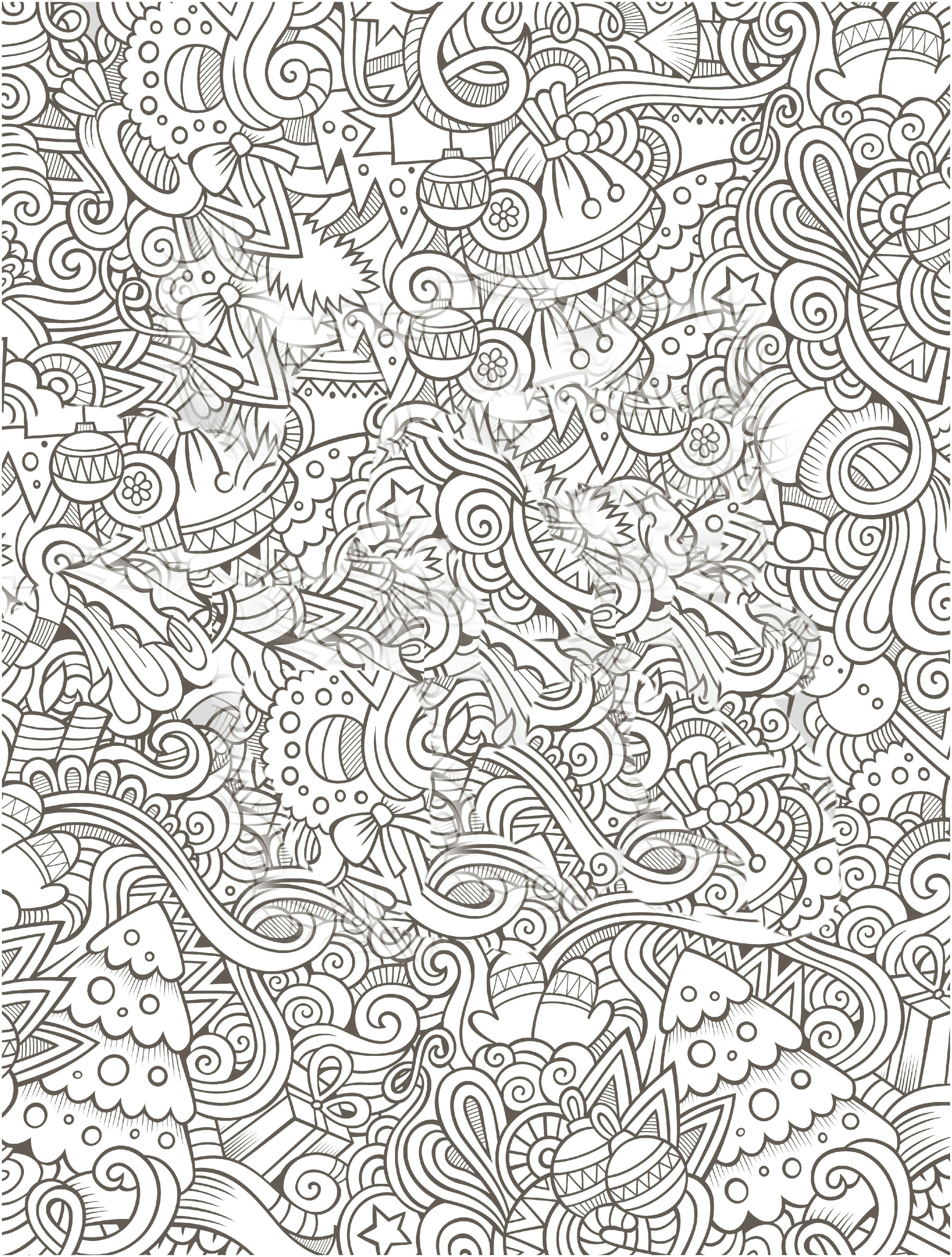 Christmas Coloring Pages Adults Free With For Me