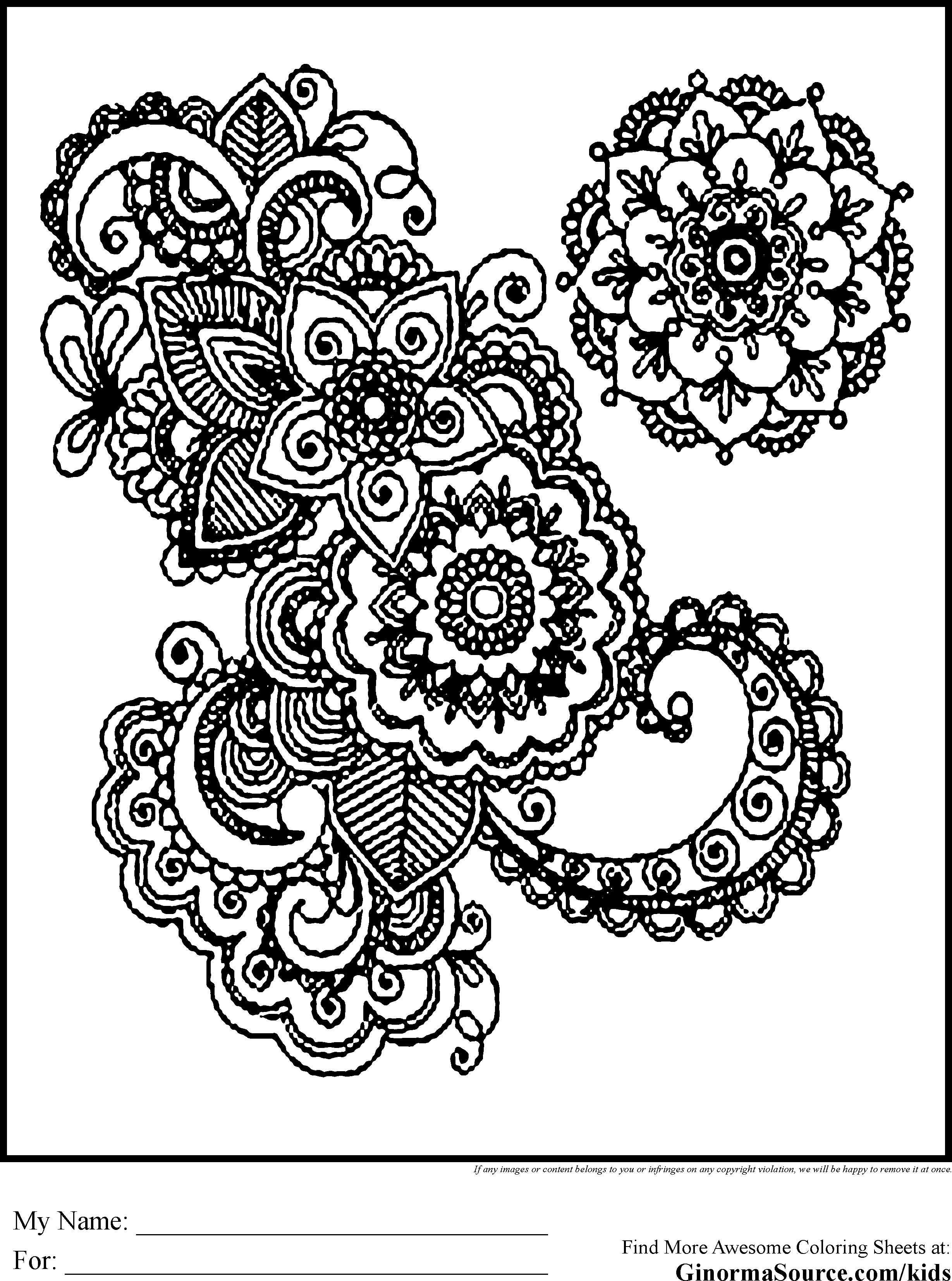 Christmas Coloring Pages Advanced With For Adults GINORMAsource