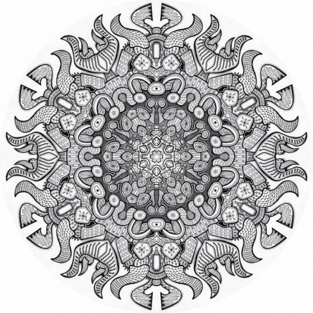 Christmas Coloring Pages Advanced With Mandala Printable Free