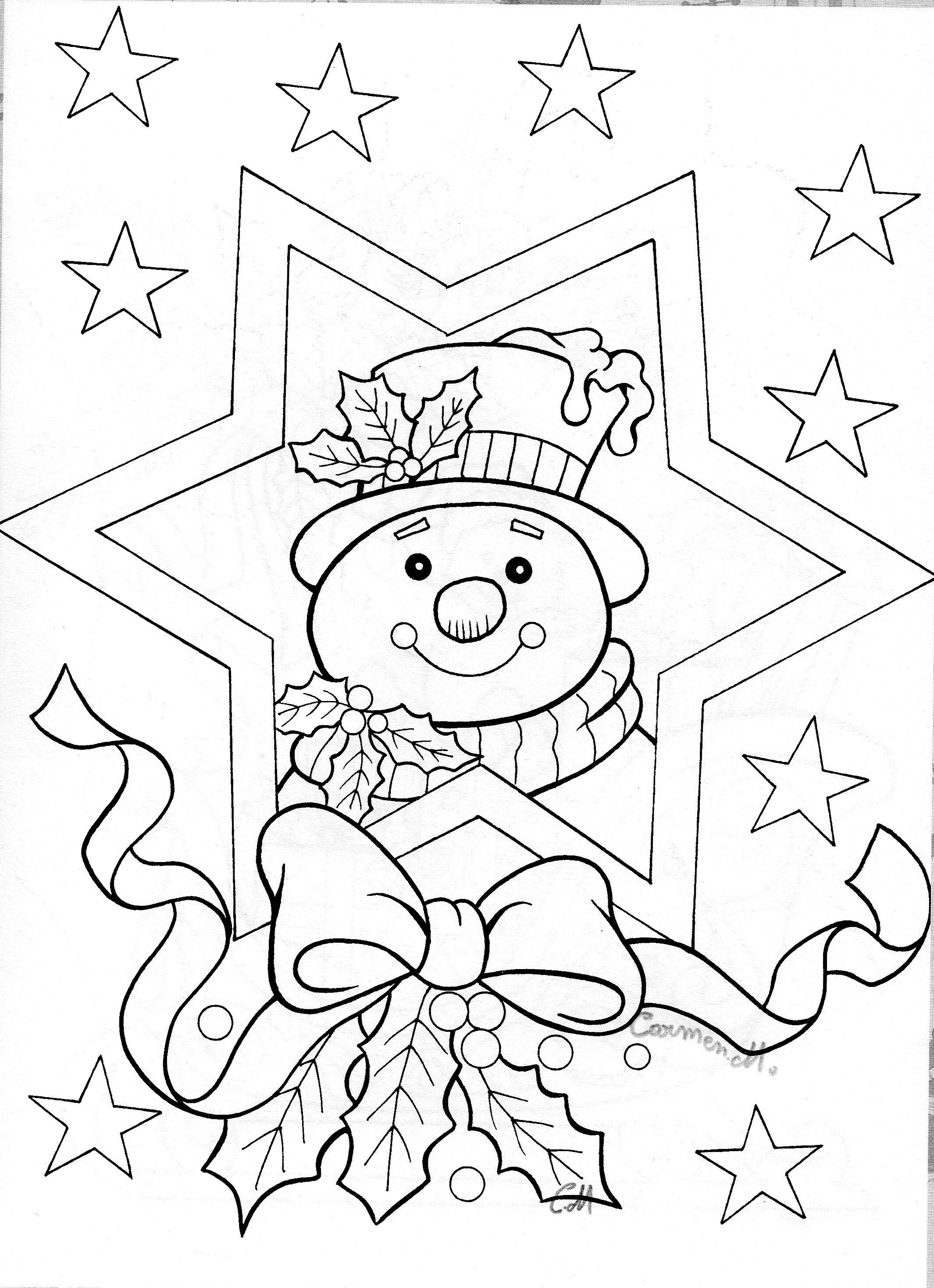 Christmas Coloring Pages Advanced With Snowman Colouring Adult Detailed