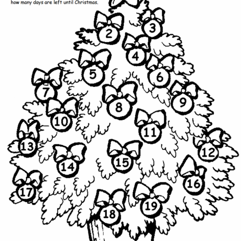 Christmas Coloring Pages And Puzzles With Countdown