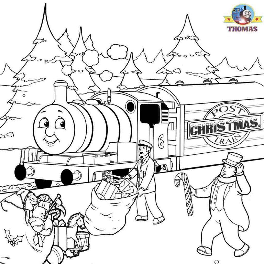 Christmas Coloring Pages And Puzzles With Thomas Sheets For Children Printable Pictures