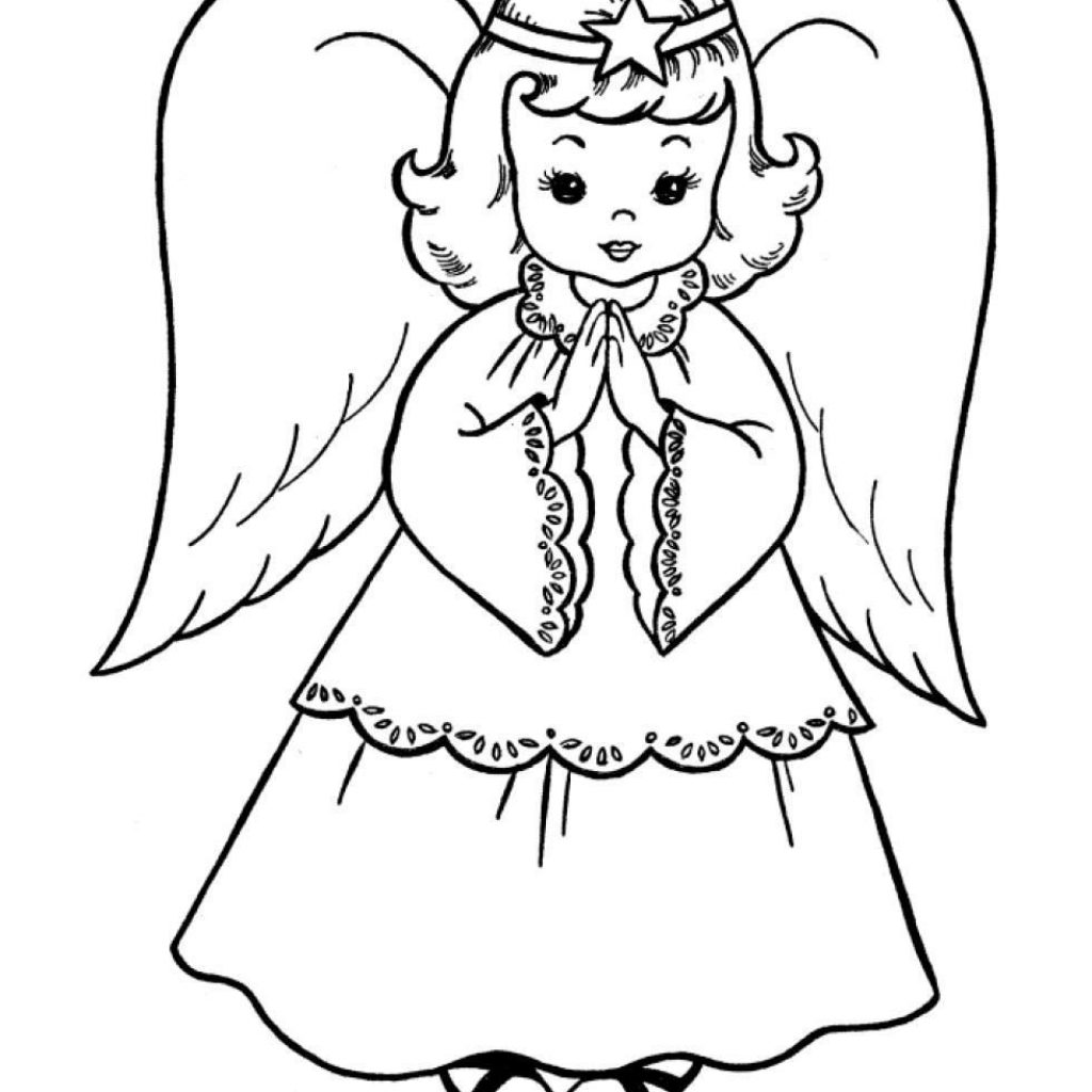 Christmas Coloring Pages Angels With Angel For Kids And Adults