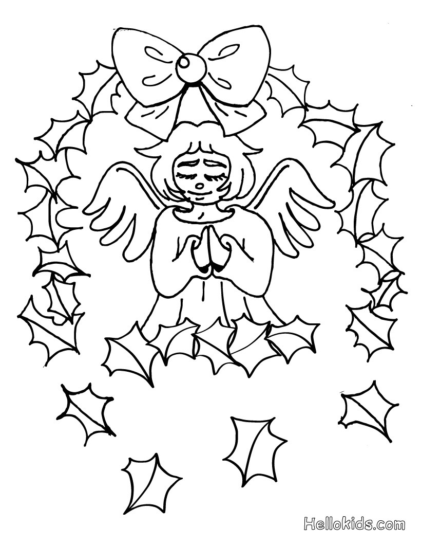 Christmas Coloring Pages Angels With CHRISTMAS ANGELS 17 Xmas Online Books And