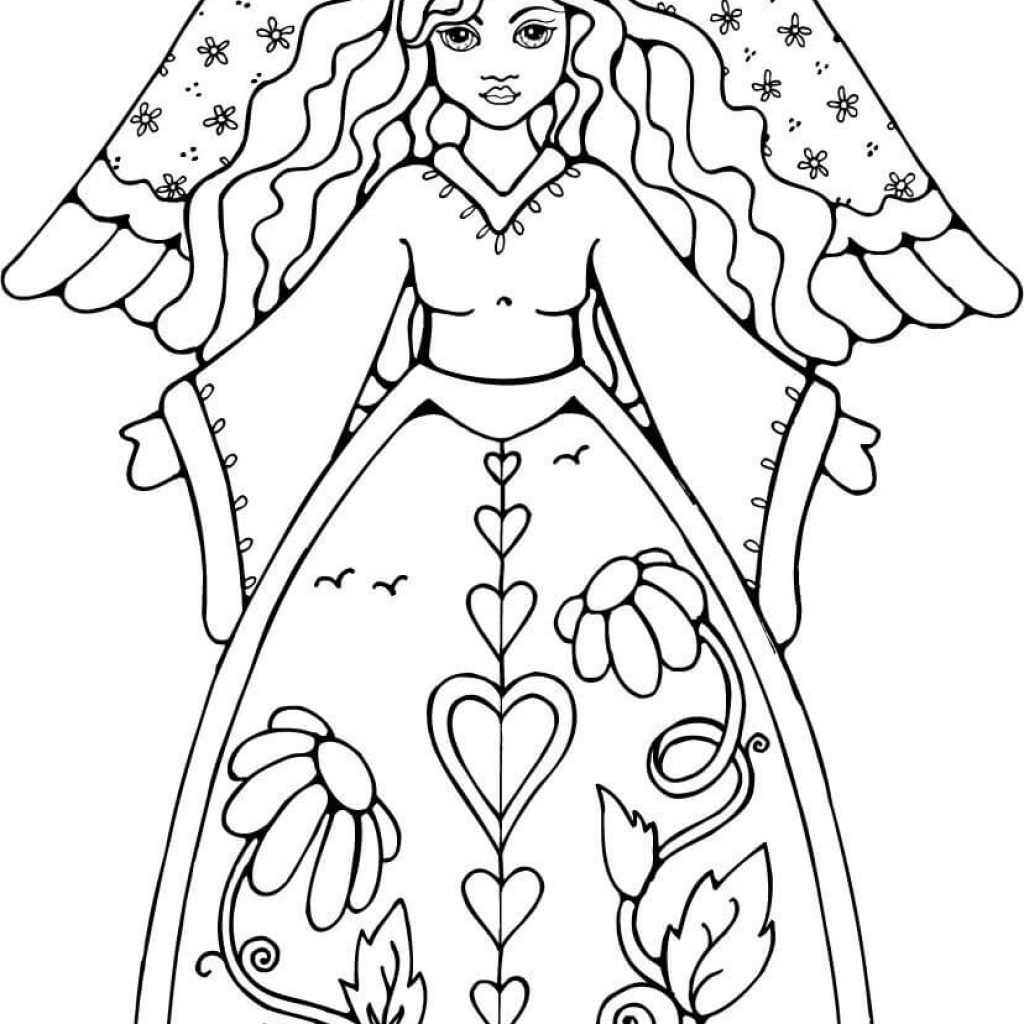 Christmas Coloring Pages Angels With Free