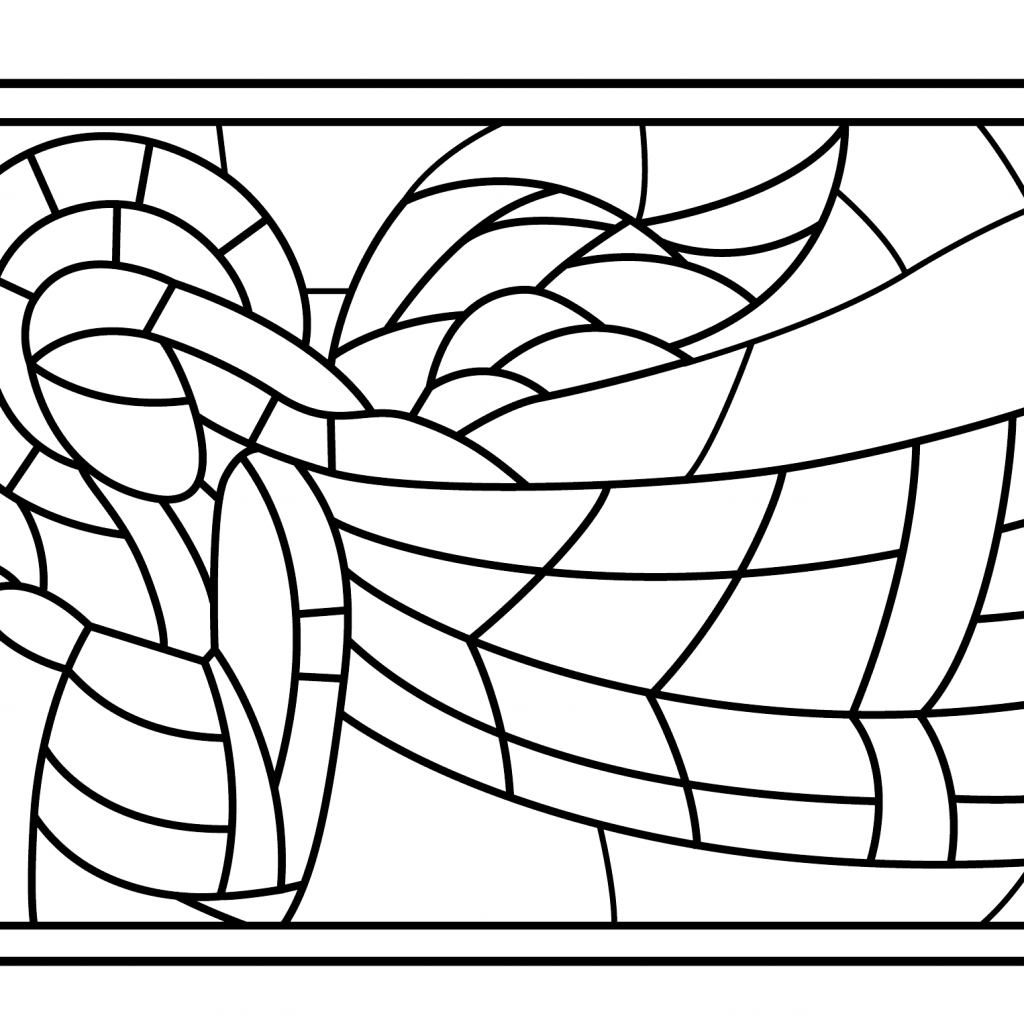 Christmas Coloring Pages Angels With Stained Glass Angel Page Free Printable