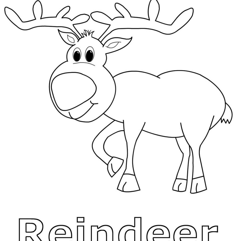 Christmas Coloring Pages Animals With Reindeer North Animal Esl English