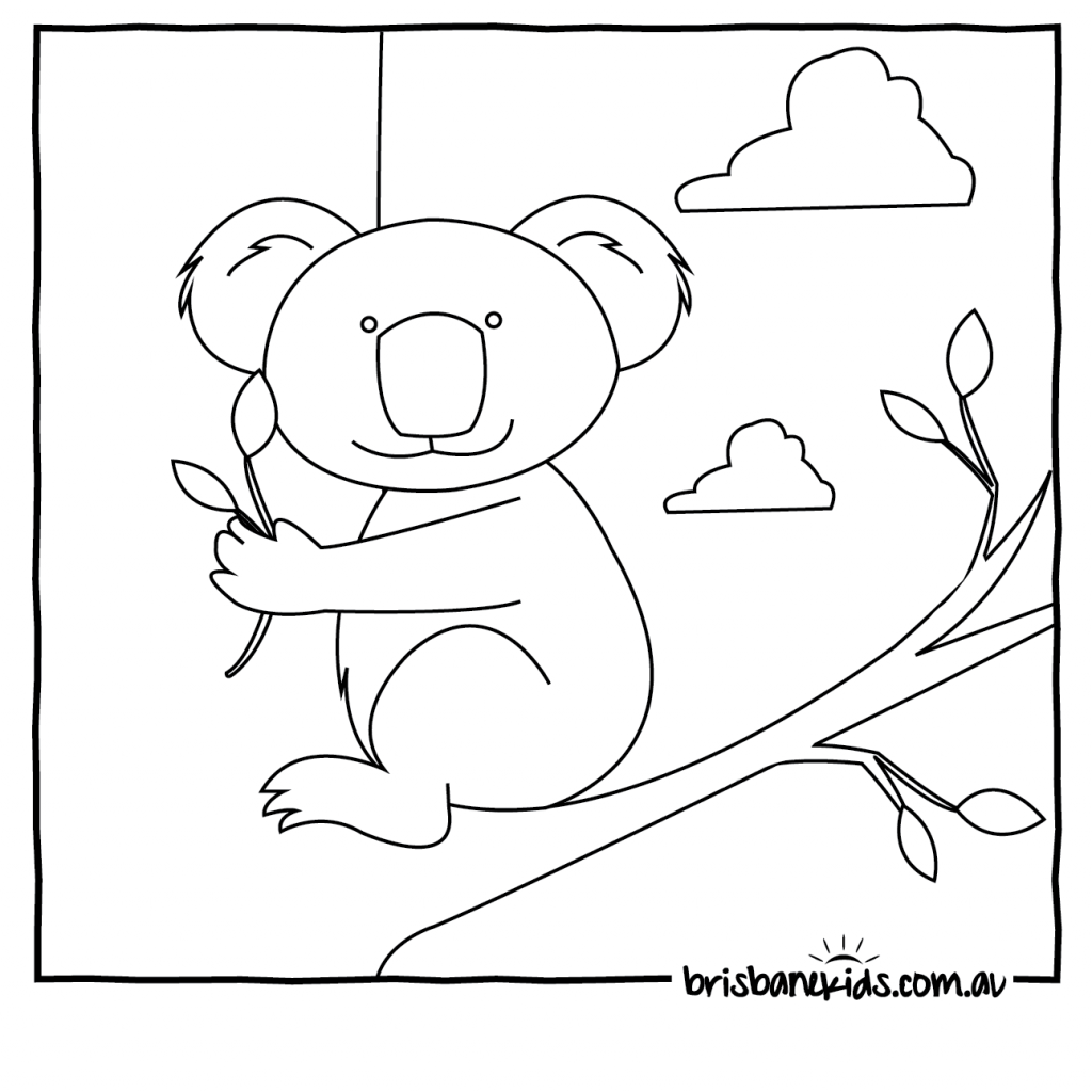 Christmas Coloring Pages Australia With 28 Collection Of Australian Animals Printable High