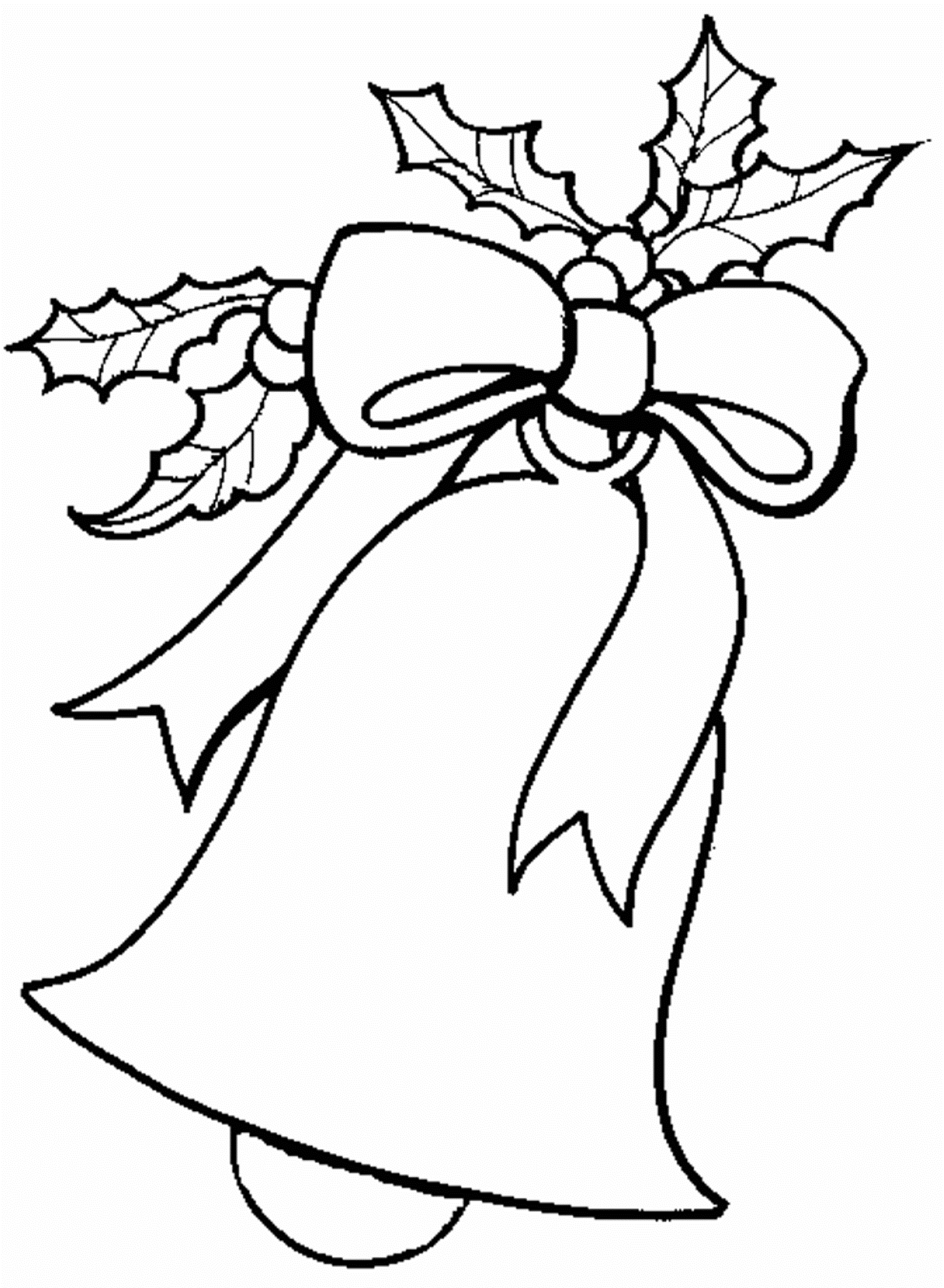 Christmas Coloring Pages Bells With Download Free For Bell Or Print