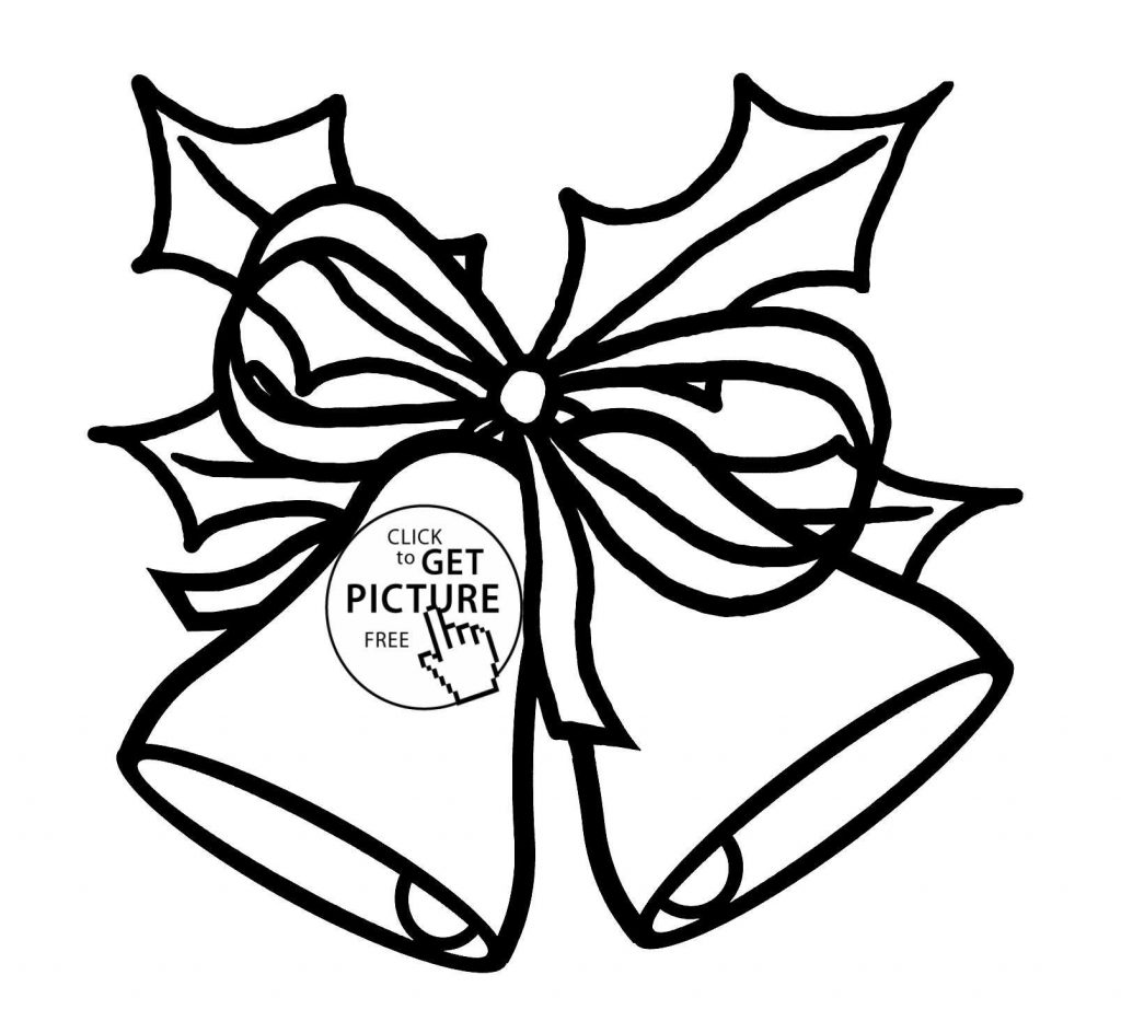 Christmas Coloring Pages Bells With Jingle New Bell Drawing At