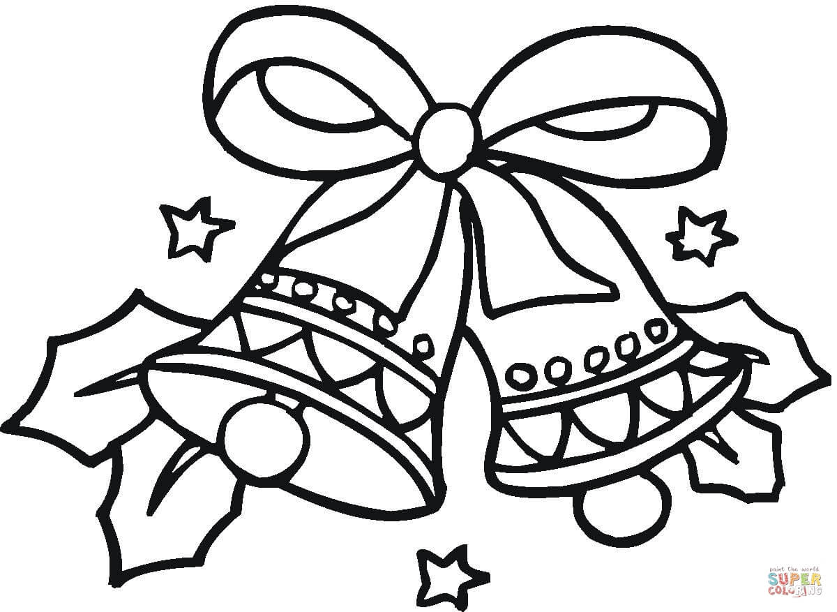 Christmas Coloring Pages Bells With Page Free Printable