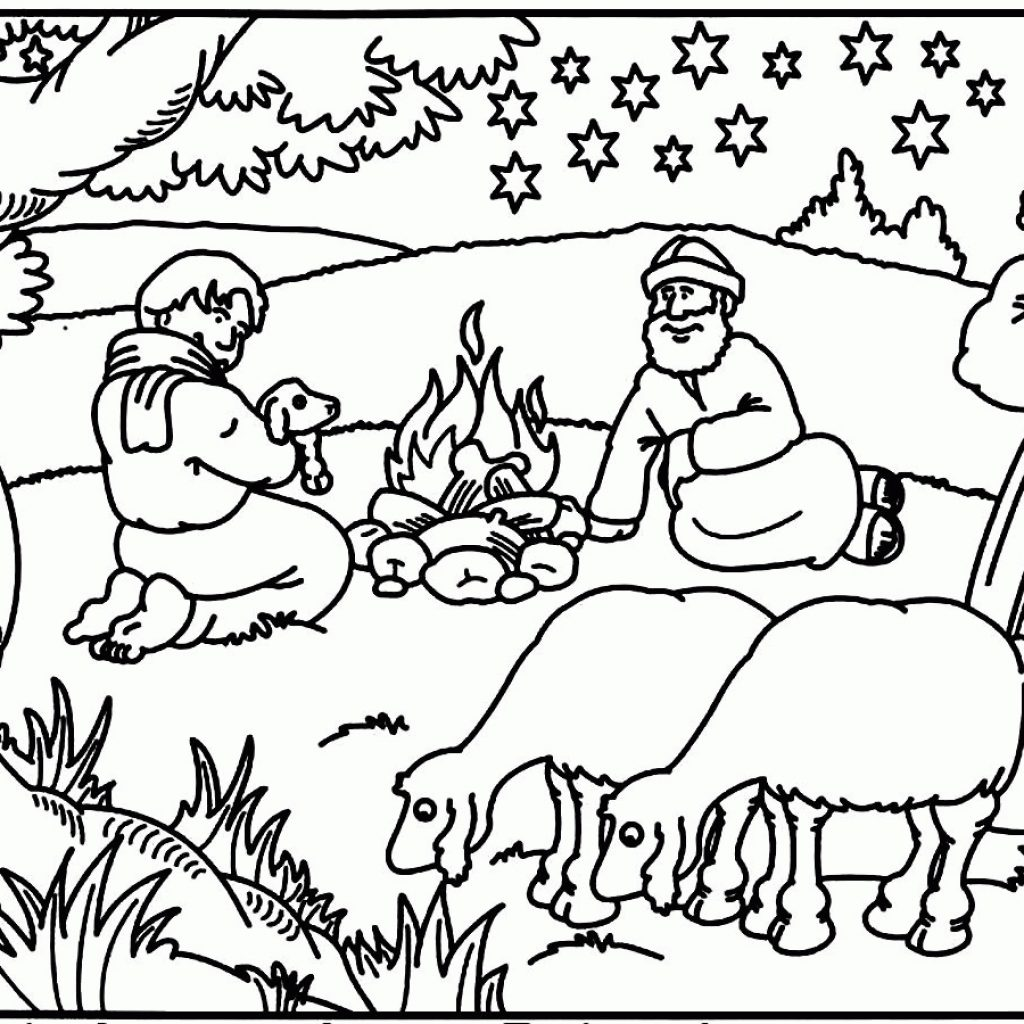 Christmas Coloring Pages Bible With Best Of Free Story Collection