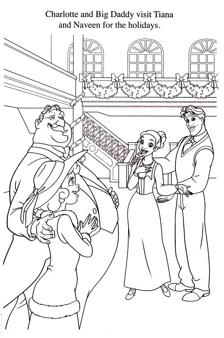 Christmas Coloring Pages Big With New Disney Princess Gallery Printable