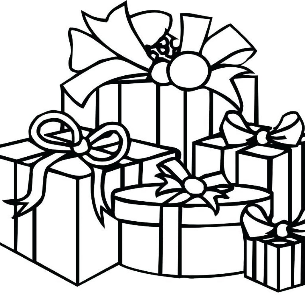Christmas Coloring Pages Big With Present Presents Page Gift And