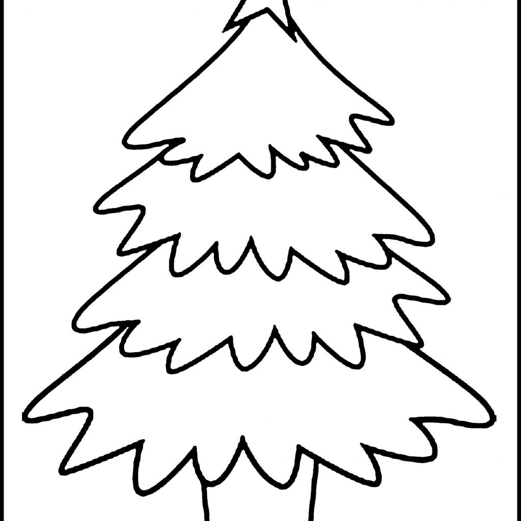 Christmas Coloring Pages Big With Tree New