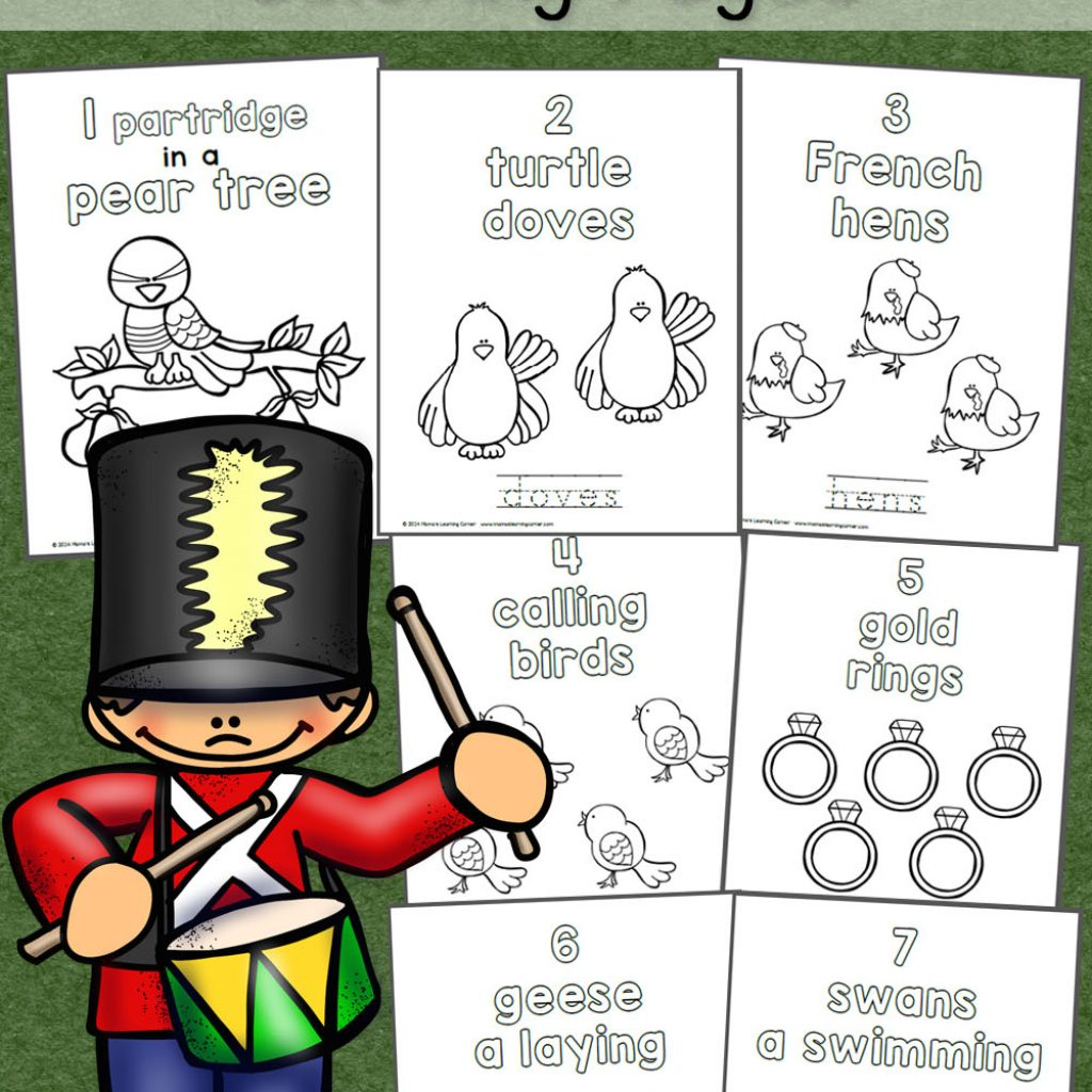 Christmas Coloring Pages Booklet With 12 Days Of Mamas Learning Corner