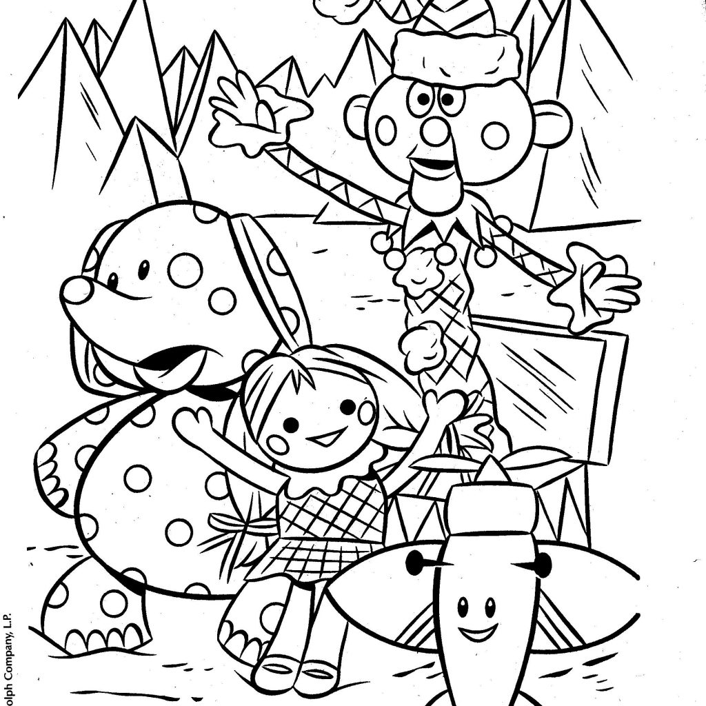 Christmas Coloring Pages Booklet With Rudolph Misfit Toys Grammy Picks Pinterest