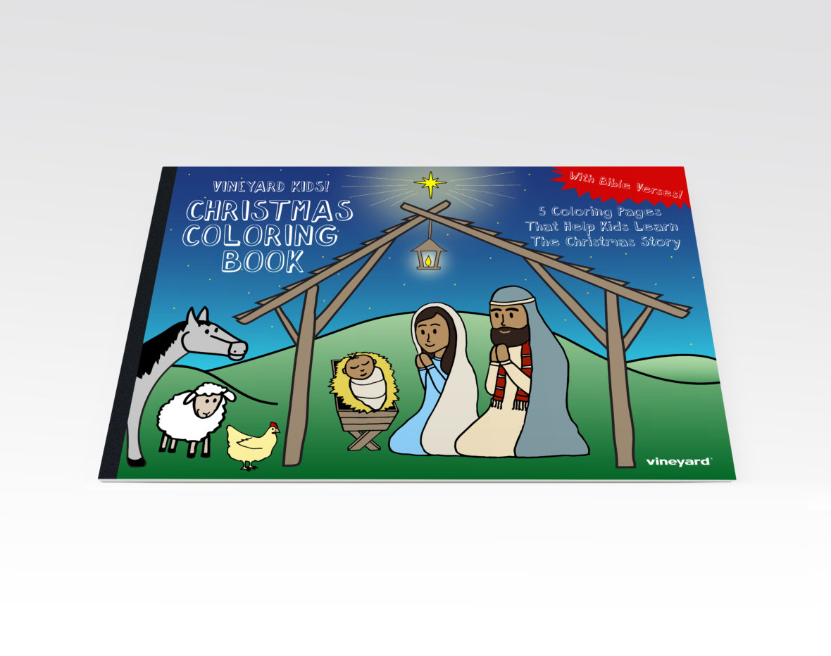 Christmas Coloring Pages Booklet With Vineyard Kids Book Digital Membership