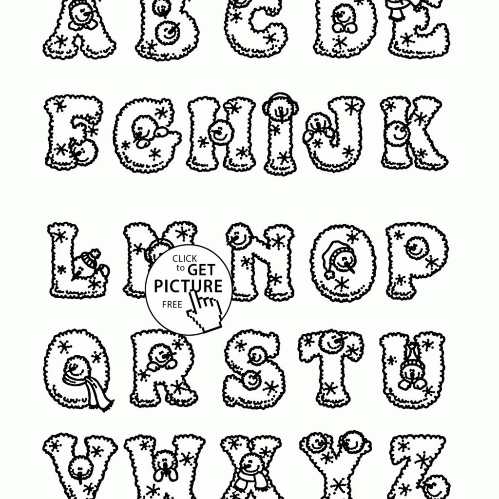 Christmas Coloring Pages By Letter With Alphabet Letters Valid Amazing Colouring
