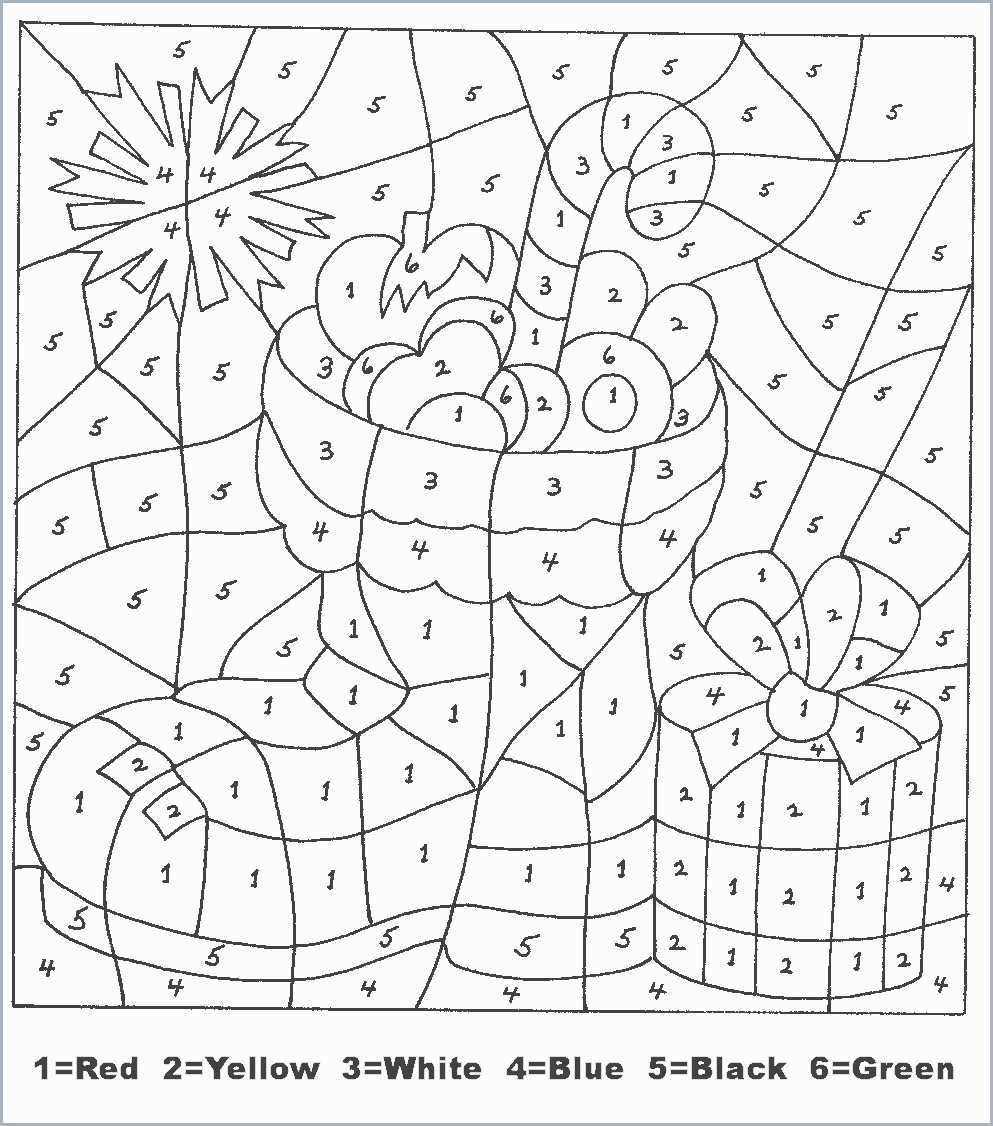 Christmas Coloring Pages By Number With Color Admirably