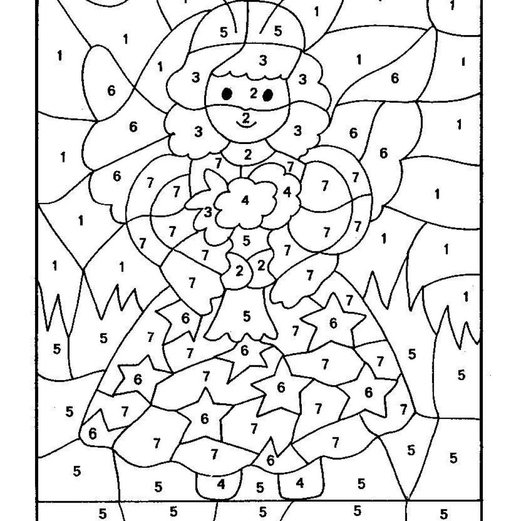 Christmas Coloring Pages By Number With Top 10 Free Printable Color Online Let S