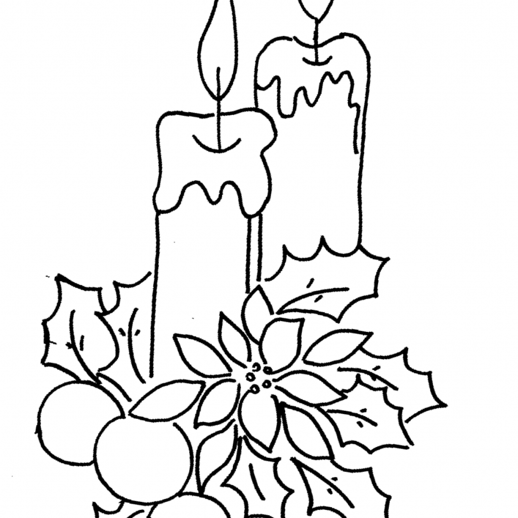 Christmas Coloring Pages Candle With 12 Immagini Natalizie Da Wallpaper PicsWallpaper CRAFTS