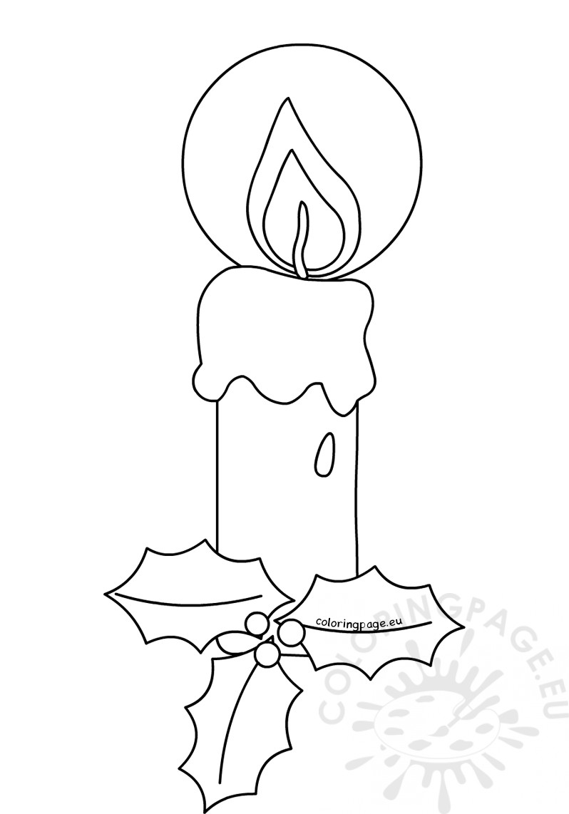 Christmas Coloring Pages Candle With For Page