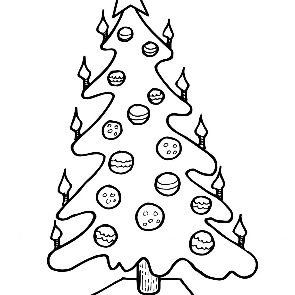 Christmas Coloring Pages Candle With Lit Tree Page Create A Printout Or Activity