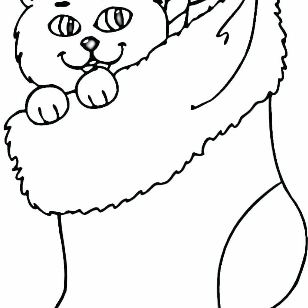 Christmas Coloring Pages Cat With Inspiring Crafts Awesome Ideas For You Dltk