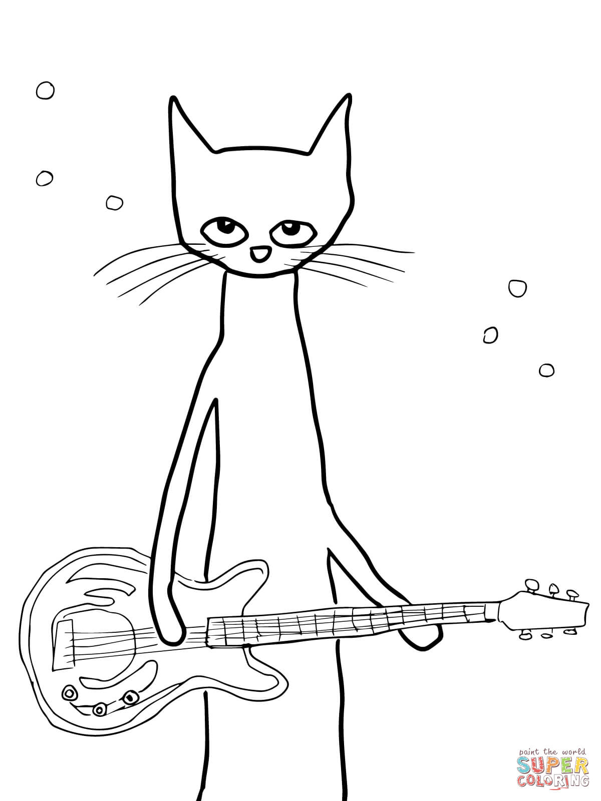 Christmas Coloring Pages Cat With Pete The Saves Page Free Printable