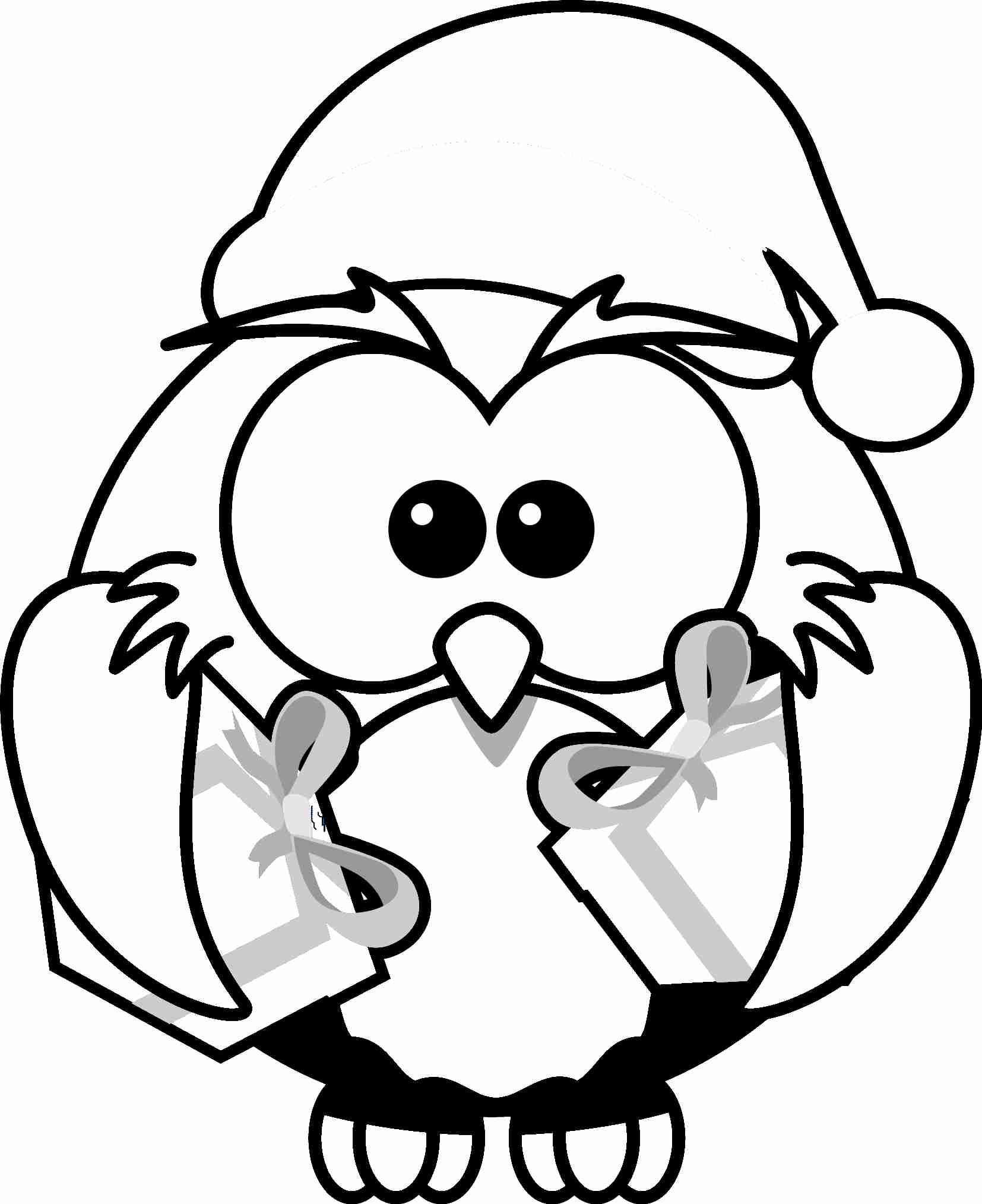 Christmas Coloring Pages Cat With