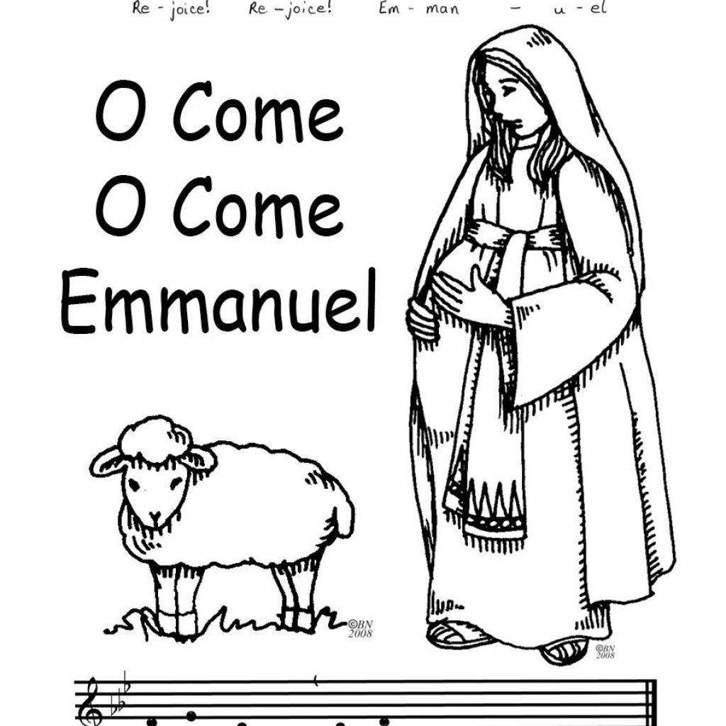 Christmas Coloring Pages Catholic With Advent Ideas For Kids