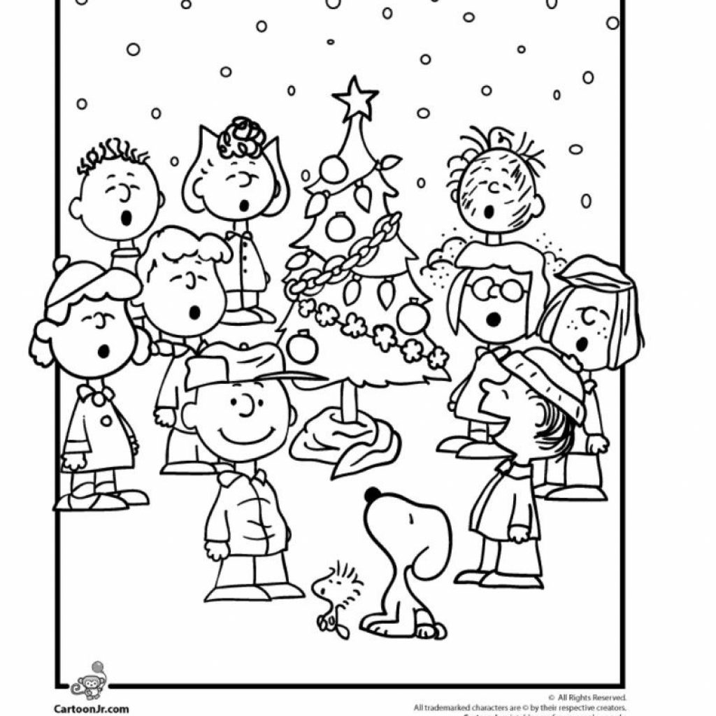 Christmas Coloring Pages Charlie Brown With 9 Wonderful Winter Kids Artsy Pinterest