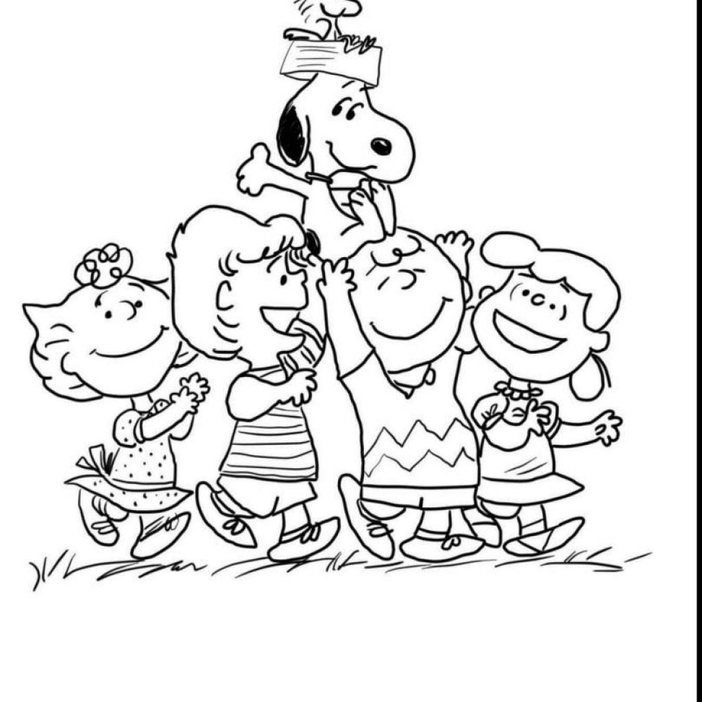 Christmas Coloring Pages Charlie Brown With Colkeyword Printable