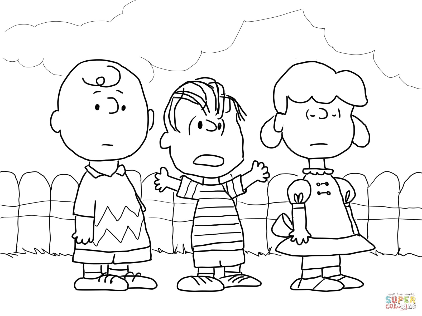 Christmas Coloring Pages Charlie Brown With Page Thanhhoacar Com