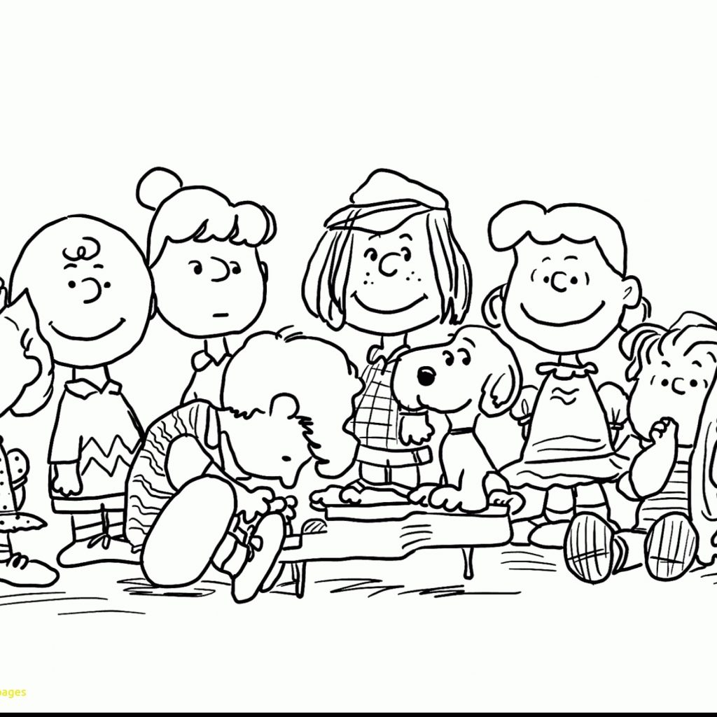 Christmas Coloring Pages Charlie Brown With Snoopy Download Free Books