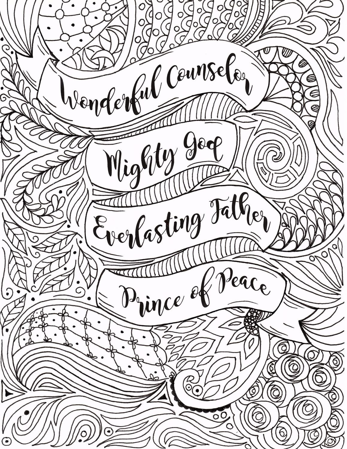 Christmas Coloring Pages Christian With Adult Page By