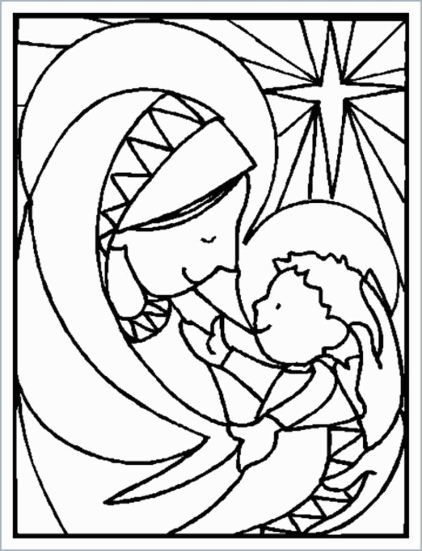 Christmas Coloring Pages Christian With Free Religious To Print Fresh