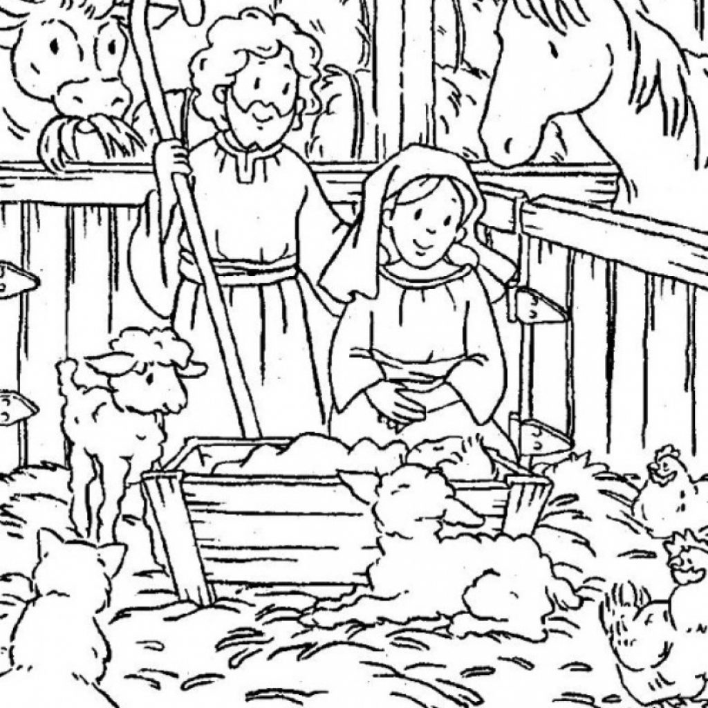 Christmas Coloring Pages Christian With Religious GetColoringPages Forensicstore Us