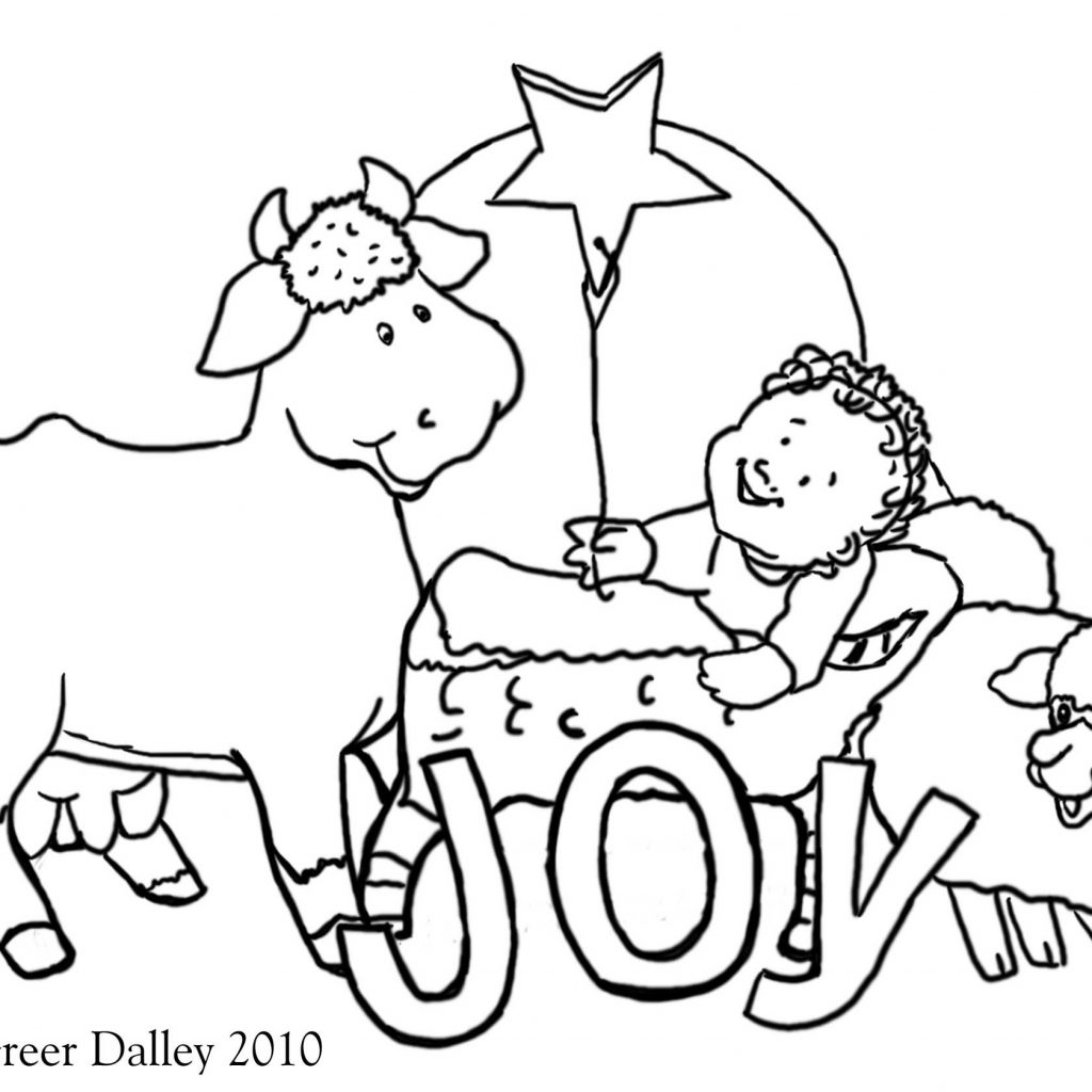 Christmas Coloring Pages Christian With Tree Valid
