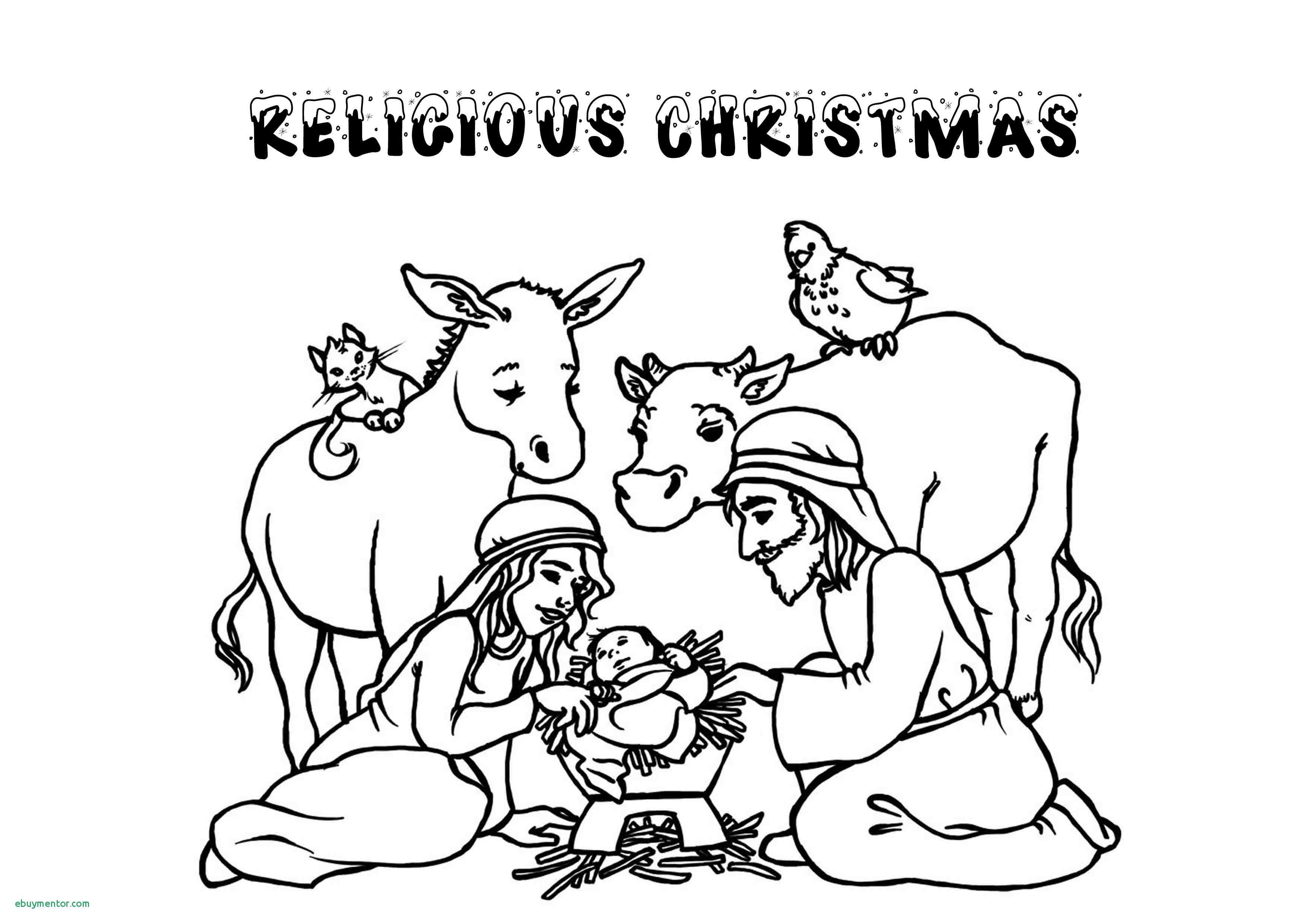 Christmas Coloring Pages Christian With Valid