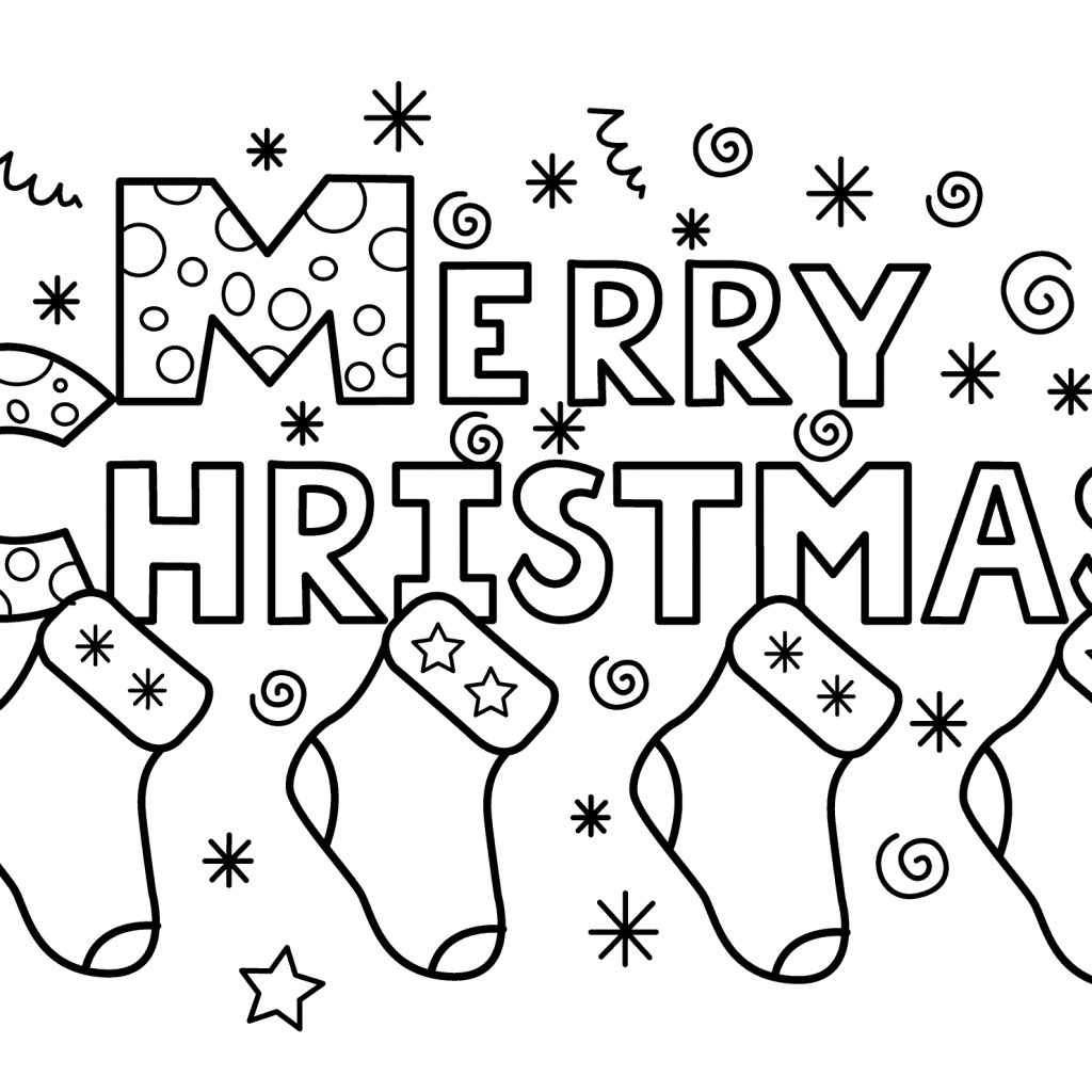 Christmas Coloring Pages Com With Merry Free Books