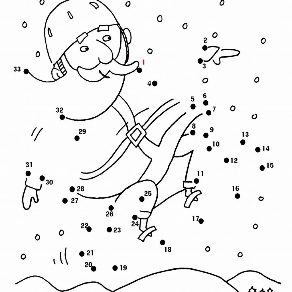 Christmas Coloring Pages Connect Dots With Santa Dot To More Fun Activities And At