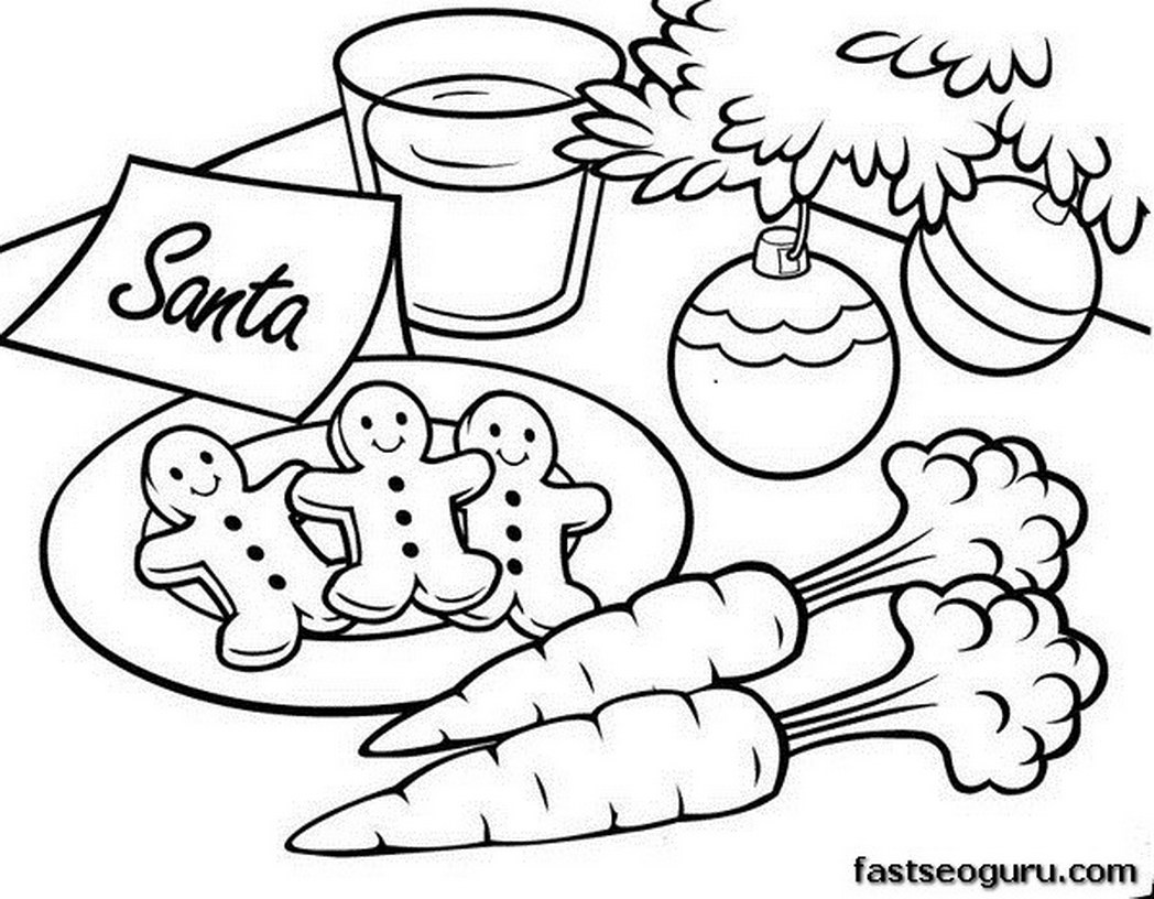 Christmas Coloring Pages Cookies With Free Cookie