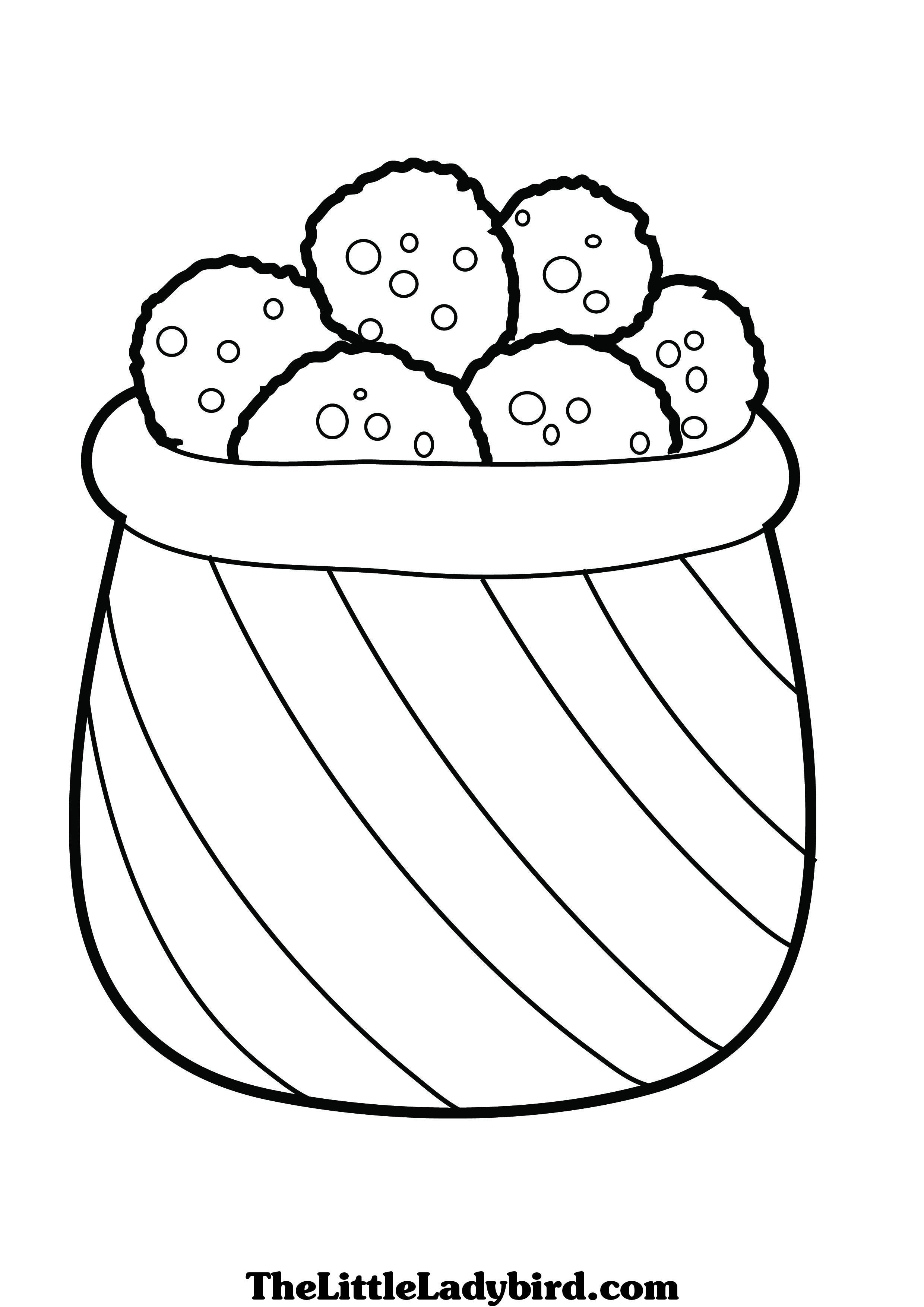Christmas Coloring Pages Cookies With Free Page Com