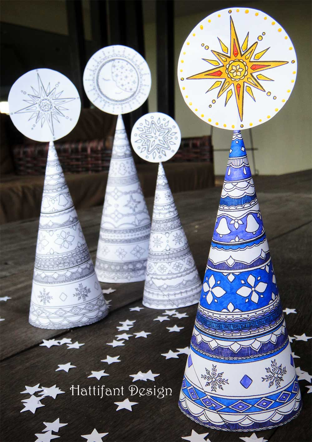 Christmas Coloring Pages Crafts With 3D Tree Colouring Page For Grown Ups Red Ted Art S Blog